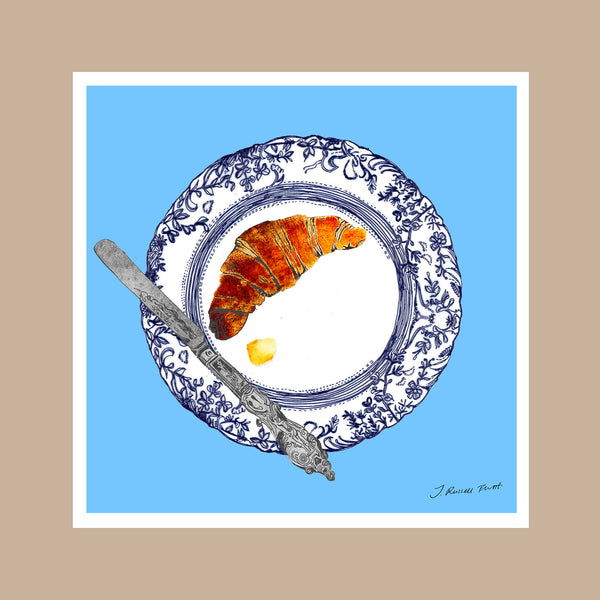 "Design Print / ""The Croissant Plate"""