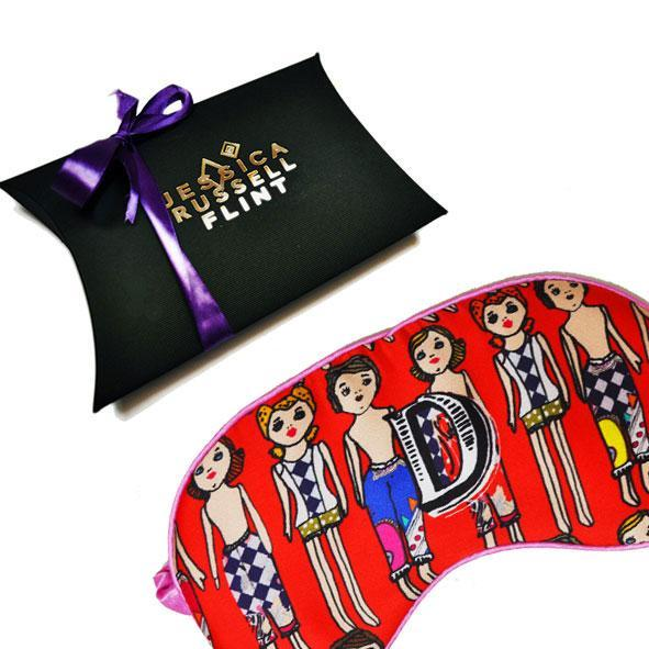 Monogram Silk Eye Mask Sleep Accessories Letter D