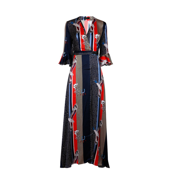 Maxi Kimono Dress / ''Eagle Stripe''