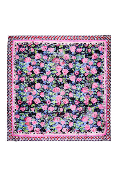 "Silk Square Scarf / ""Floral Pop"""