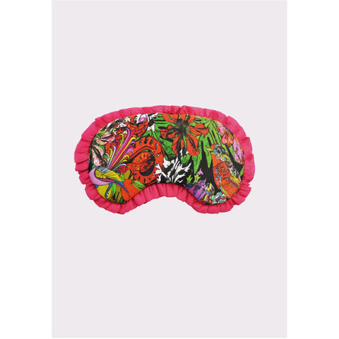 Jessica Russell Flint Silk Eye Mask Luxury Accessories Sleepwear Gift Gifting Ideas Spring Summer Colourful Floral Print Glorious Beasties