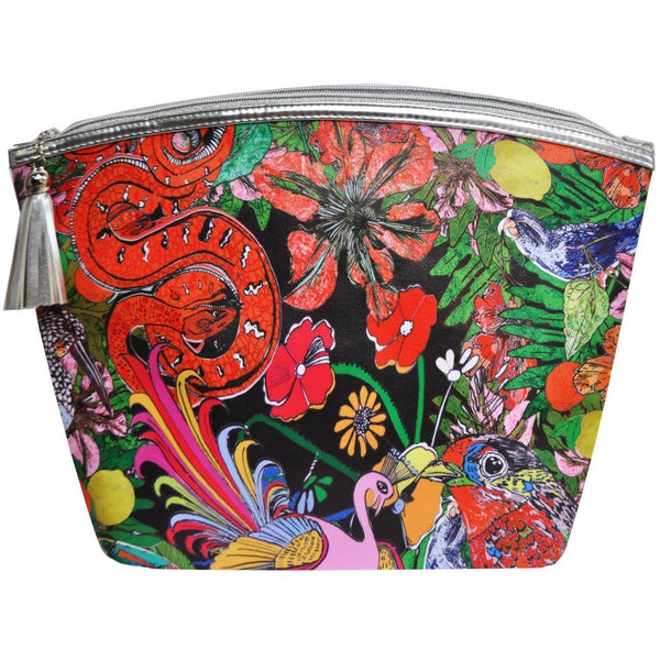 Jessica Russell Flint Vegan Leather Giant Wash Bag Waterproof Luxury Accessories Gift Gifting Ideas Spring Summer Colourful Print Glorious Beasties