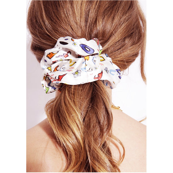 Jessica Russell Flint Silk Scrunchie Luxury Hair Accessories Gift Gifting Ideas Spring Summer Colourful Print Indiana