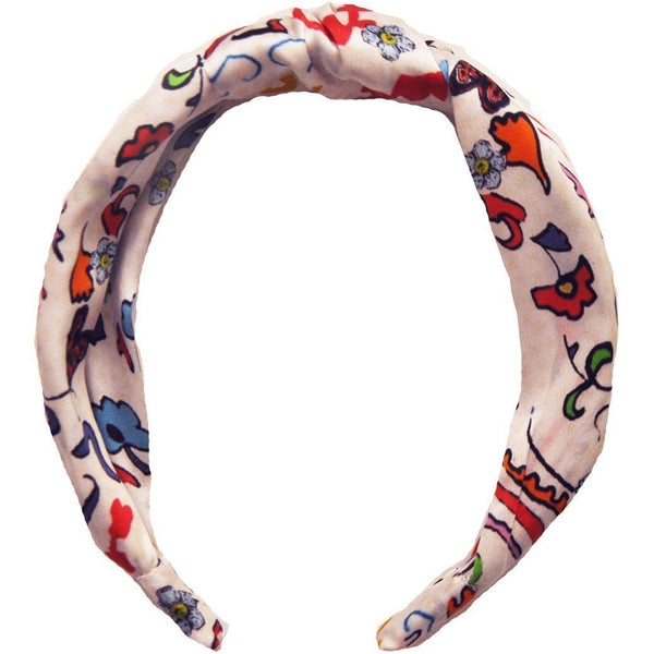 Jessica Russell Flint Silk Headband Luxury Hair Accessories Gift Gifting Ideas Spring Summer Colourful Print Indiana