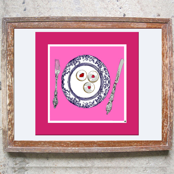 "Limited Edition Print / ""The Jammy Dodger Plate"""