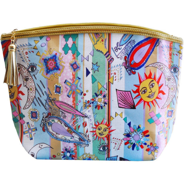 Jessica Russell Flint Vegan Leather Giant Wash Bag Waterproof Luxury Accessories Gift Gifting Ideas Spring Summer Colourful Print Mad Summer