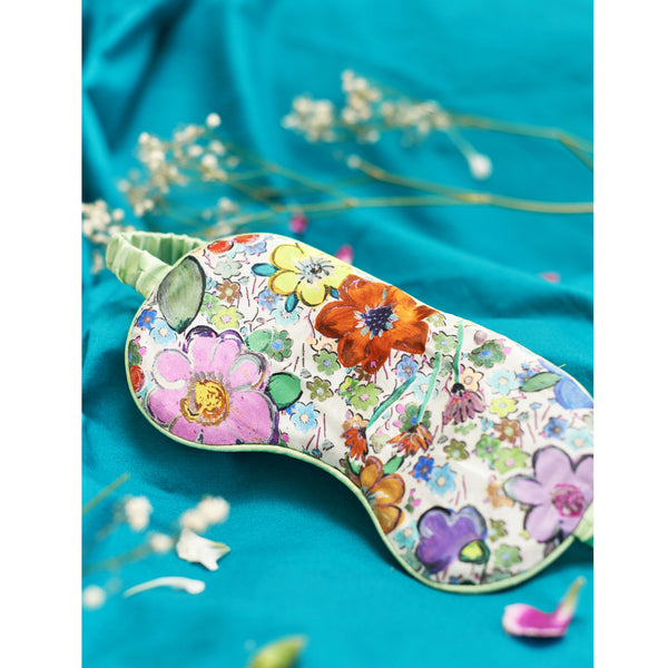 Silk Eye Mask / ''Paint By Flora""