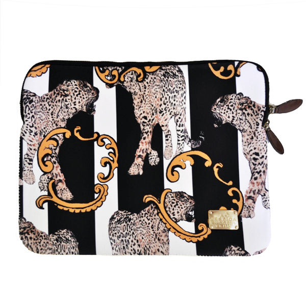 "Laptop Case / ""The Striped Leopard"""