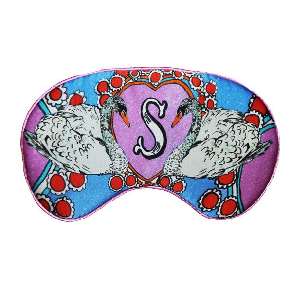 "Silk Eye Mask / ""S for Swans"""