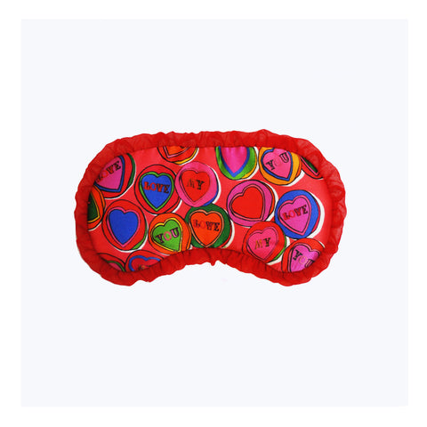 "Silk Eye Mask / ""Love Hearts"""