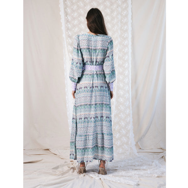 "Belted Maxi Dress / ""Wilde Border"""