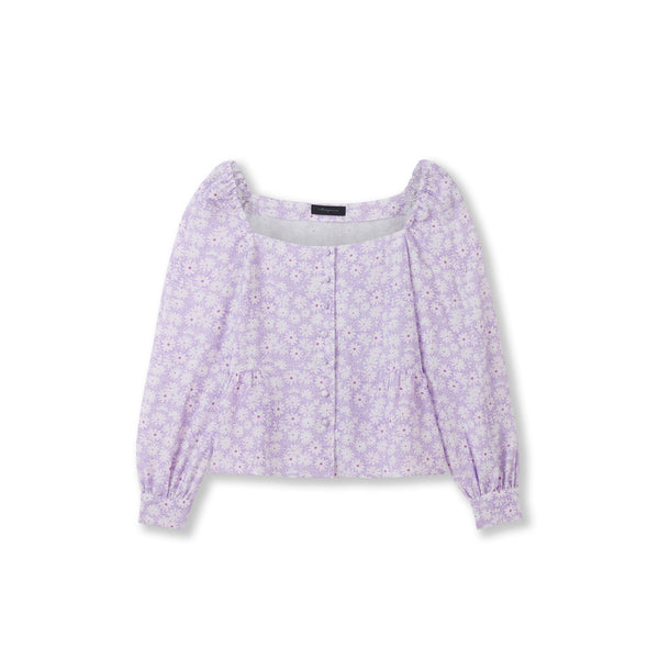 "Square Neck Blouse / ""Wilde Lilac"""