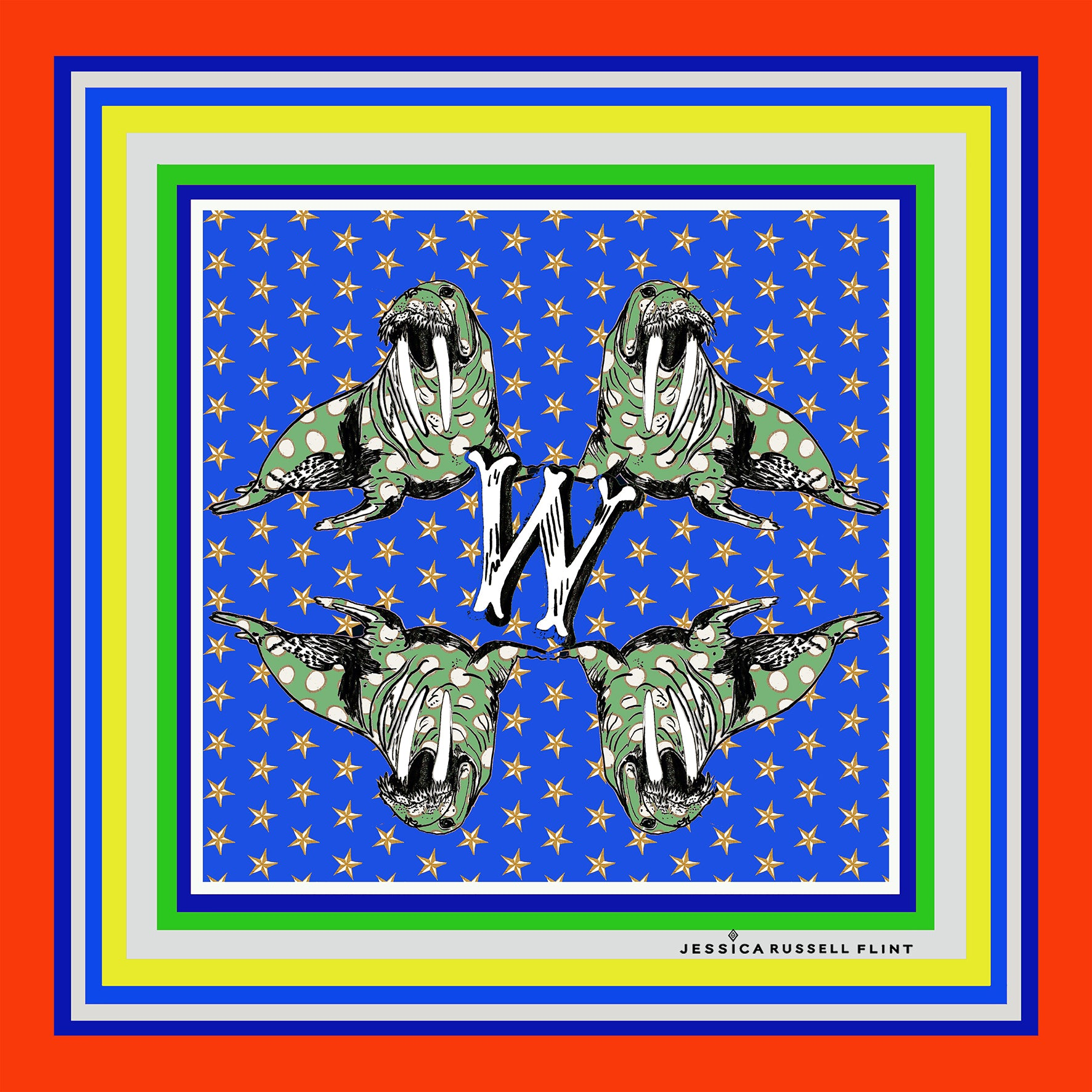"Design Print / ""W for Walrus"""