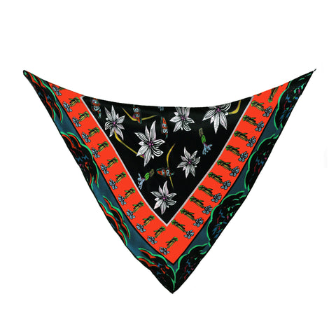 Silk Neck Tie / ''Wild Flower Valley''