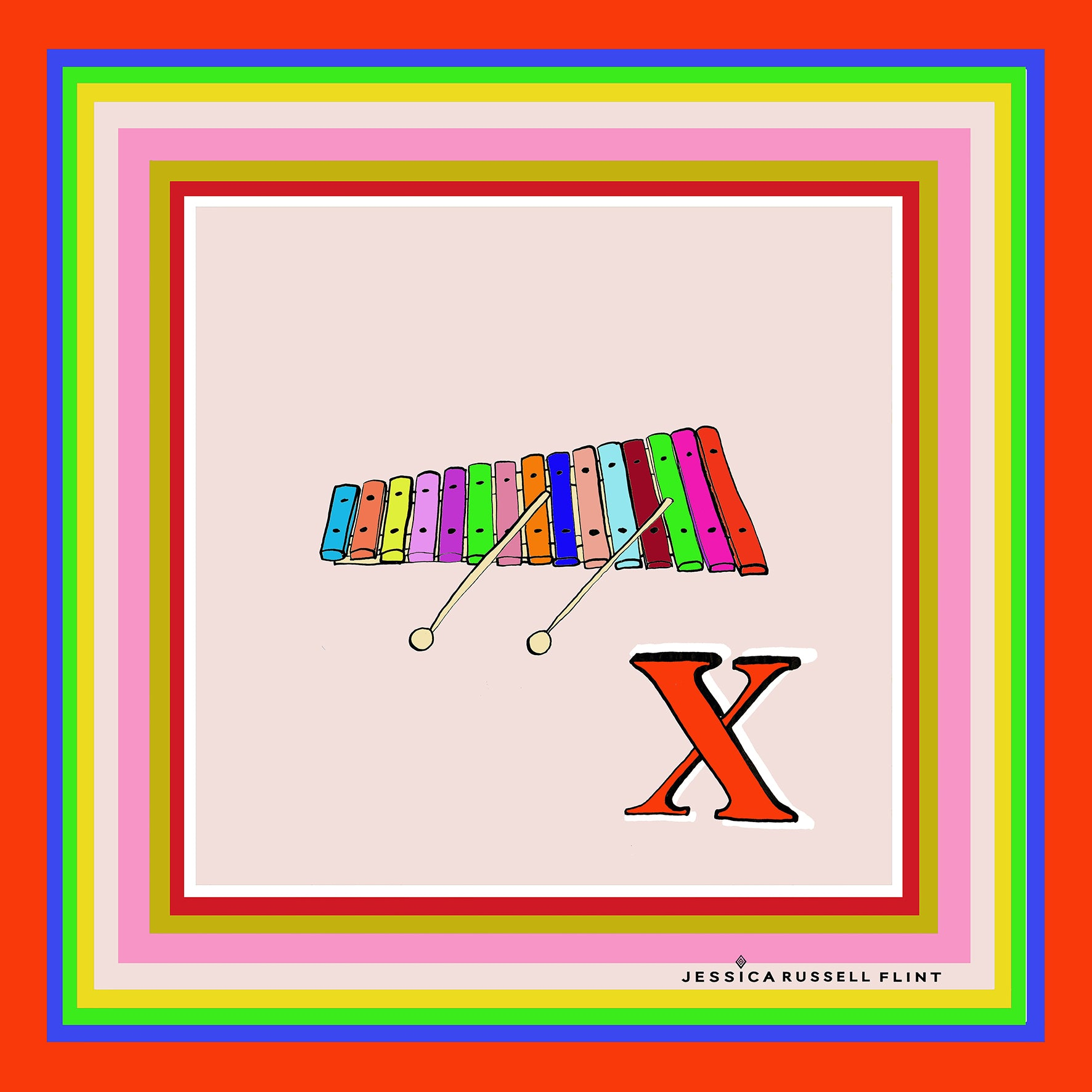 "Design Print / ""X for XYLOPHONE"""