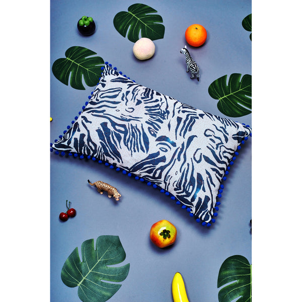 Hopsack Long Cushion Cover / ''Mythical Jungle''