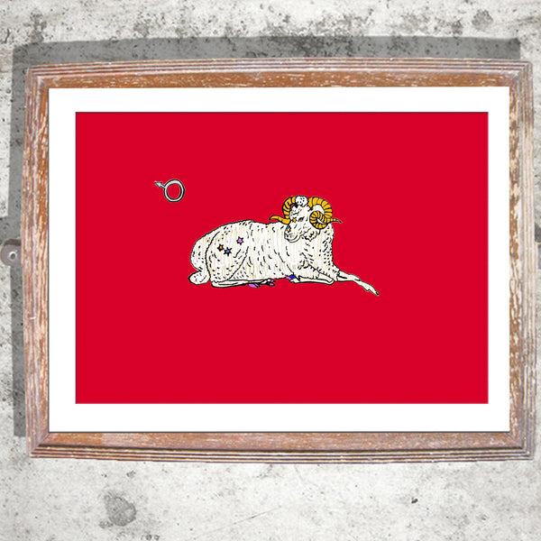 "Limited Edition Print/""The Aries Ram"""
