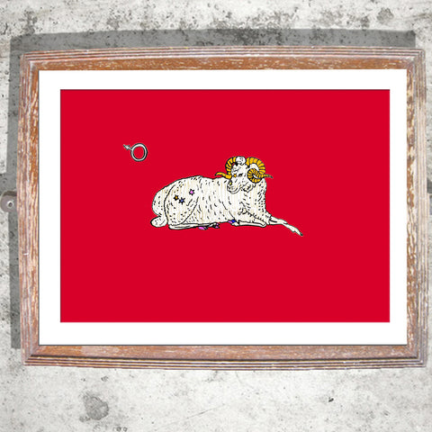 "Signed Print / ""The Aries Ram"""