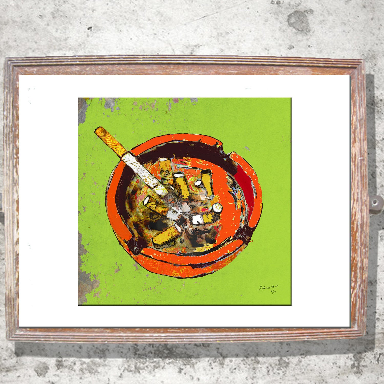 "Signed Print / ""An Ashtray"""