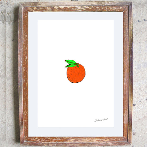 "Signed Print / ""The Orange"""