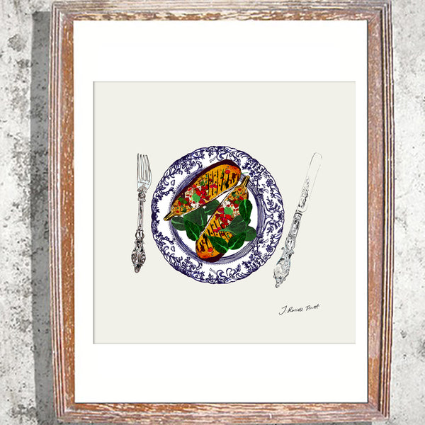 "Signed Print /""The Aubergine Plate"""