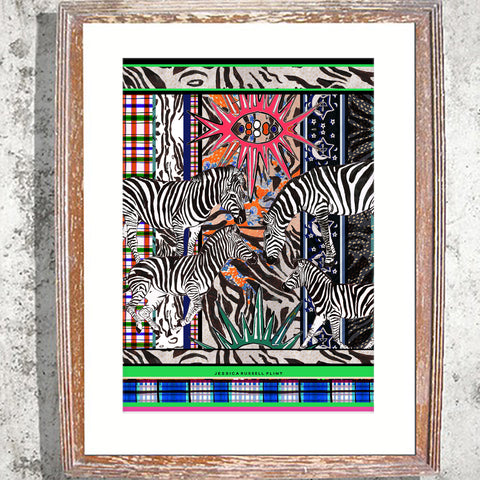 "Signed Print / ""The Acid Zebra"""