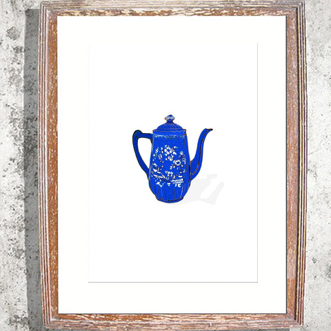 "Signed Print / ""The Blue Teapot"""