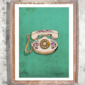 "Signed Print / ""Boujie Telephone"""