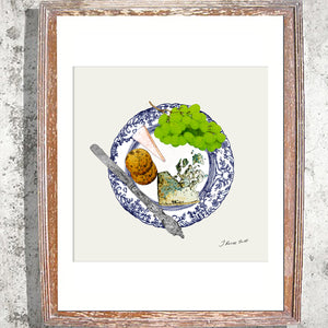 "Signed Print /""The Cheese Plate"""
