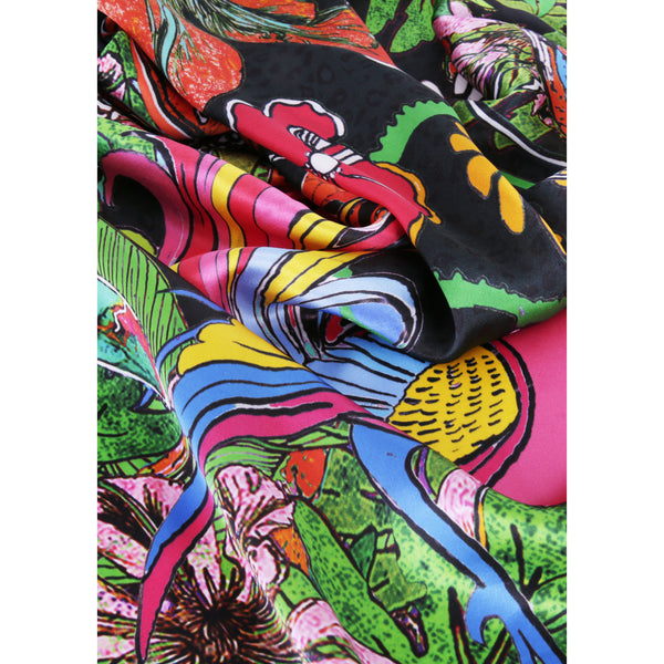 "Silk Square Scarf / ""Glorious Beasties"""