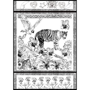 "Free Colouring In Print/ ""Jungle Sketch"""