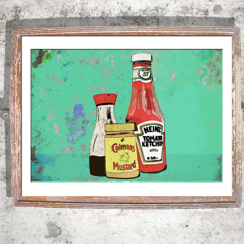 "Signed Print / ""The Condiments"""