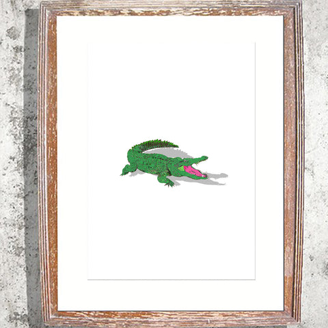 "Signed Print / ""The Crocodile with the pink tongue"""