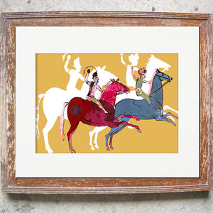 "Signed Print / ""The Galloping Horses"""
