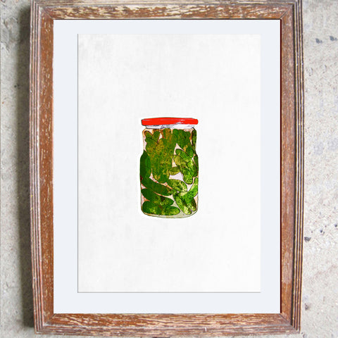 "Signed Print / ""A Jar of Gherkins"""