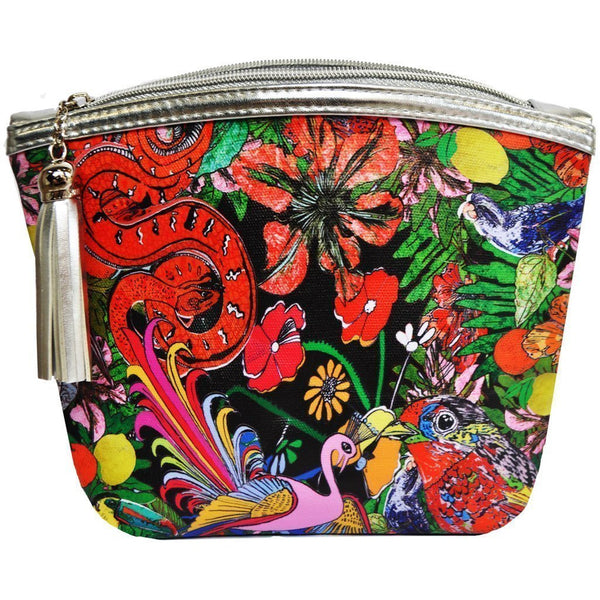 Jessica Russell Flint Vegan Leather Classic Make Up Bag Luxury Accessories Gift Gifting Ideas Spring Summer Colourful Print Glorious Beasties