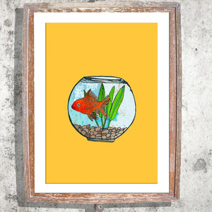 "Signed Print / ""The Goldfish Bowl"""