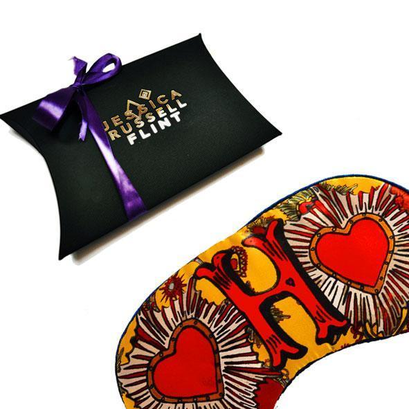 Monogram Silk Eye Mask Sleep Accessories Letter H