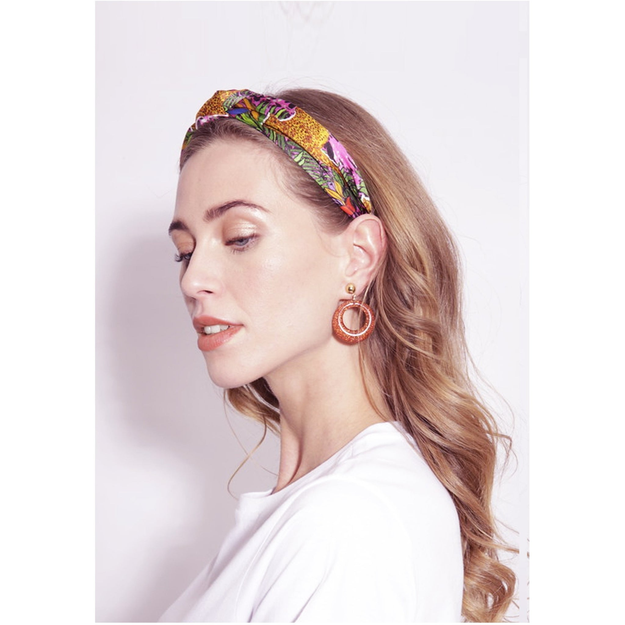 Jessica Russell Flint Silk Headband Luxury Hair Accessories Gift Gifting Ideas Spring Summer Colourful Leopard Print Hot Cheetah