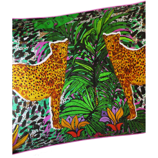 Jessica Russell Flint Silk Pillowcase Luxury Home Accessories Gift Gifting Ideas Spring Summer Colourful Unique Leopard Print Hot Cheetah