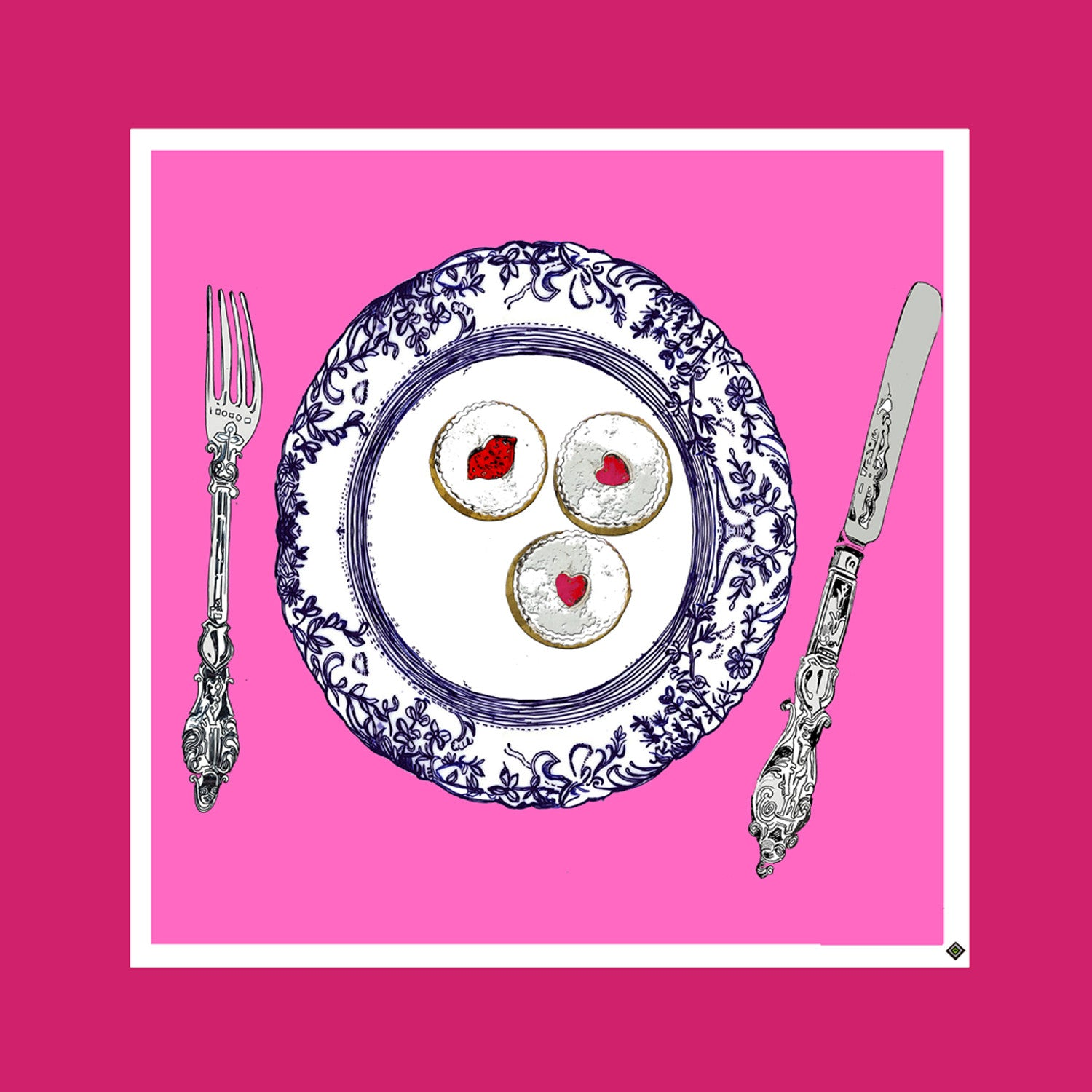 "Design Print / ""The Jammy Dodger Plate"""