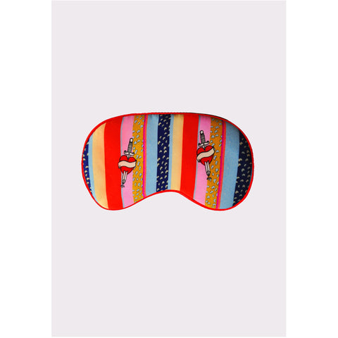Silk Eye Mask ''Kansas Stripe''