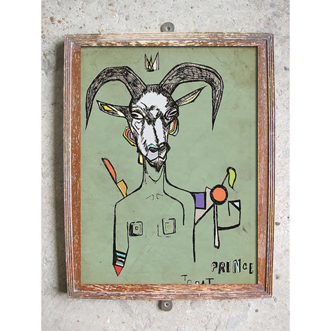 "Signed Print / ""The King Goat"""