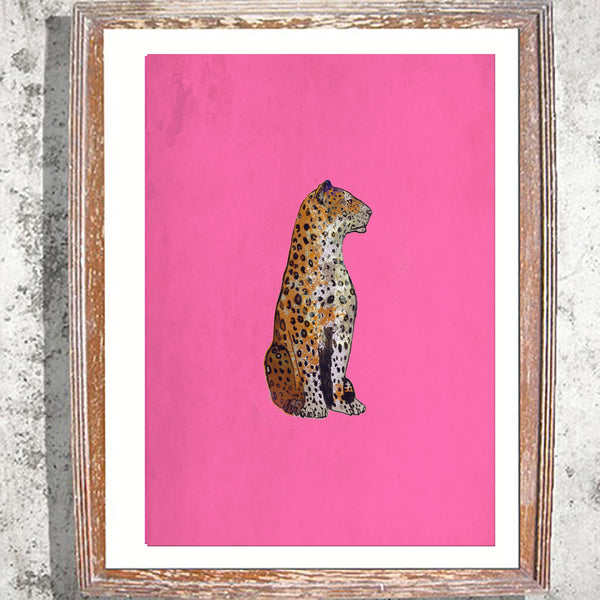 "Signed Print / ""The Leopard Statue"""