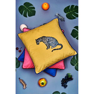 Velvet Cushion Cover  / ''The Leopard''