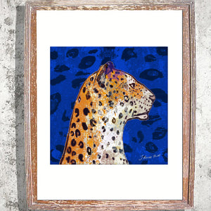 "Signed Print/""The Leopards Head"""