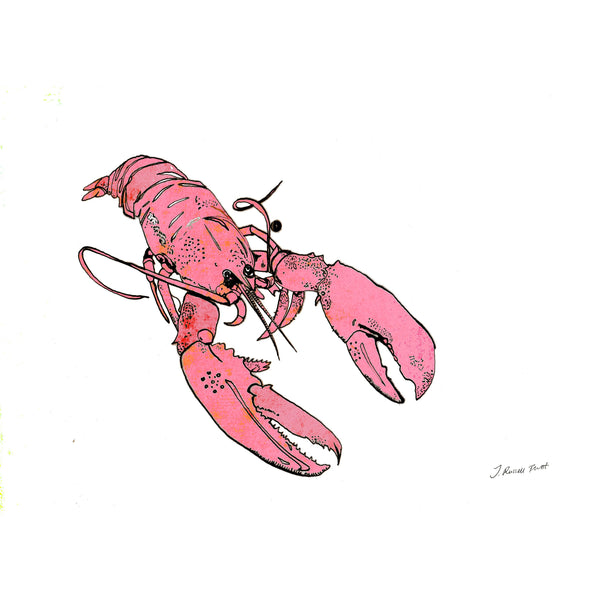 "Signed Print / ""The Little Pink Lobster"""