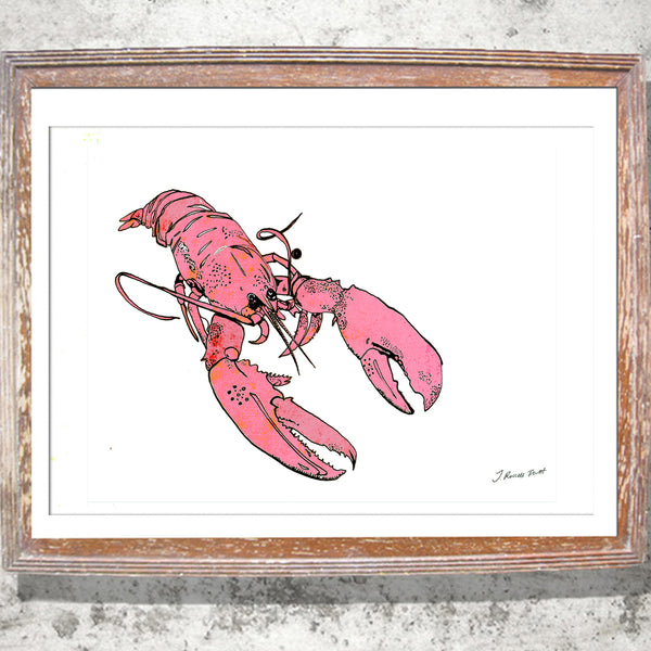 "Limited Edition Print/""The Little Pink Lobster"""