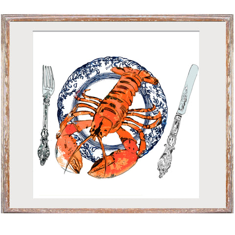 "Signed Print / ""The Lucky Lobster Plate"""