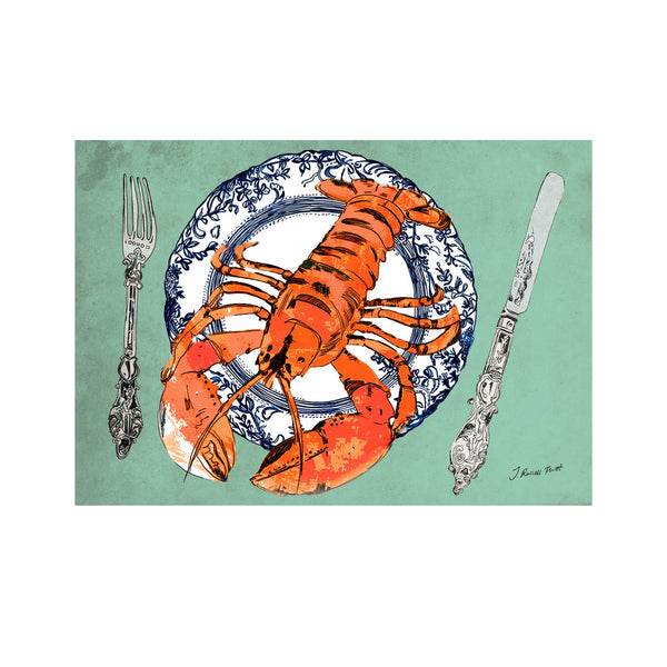"Signed Print / ""The Lobster Plate"""